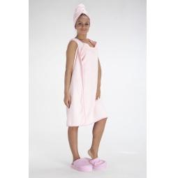 фото Халат-полотенце Bradex «С легким паром!». Цвет: розовый