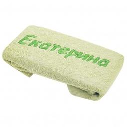 фото Полотенце подарочное с вышивкой TAC Екатерина. Цвет: зеленый