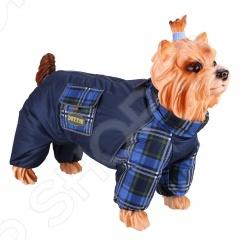Комбинезон-дождевик для собак DEZZIE «Йоркширский терьер» №2. Цвет: синий комбинезон дождевик для собак dezzie такса карликовая цвет синий