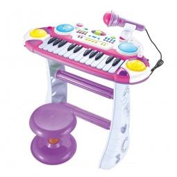 фото Музыкальный инструмент игрушечный Joy Toy «Электронное пианино на стойках»