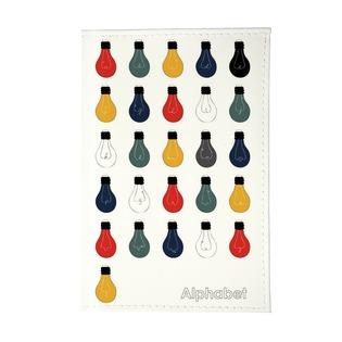 Купить Обложка для автодокументов Mitya Veselkov «Алфавит лампочек»