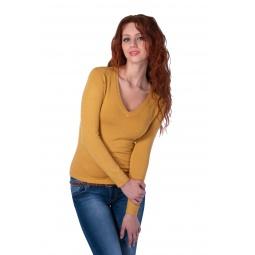 фото Джемпер Mondigo 9131. Цвет: горчичный. Размер одежды: 46