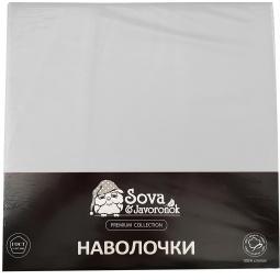 фото Комплект из 2-х наволочек гладкокрашеных Сова и Жаворонок Premium. Цвет: белый. Размер наволочки: 50х70 см