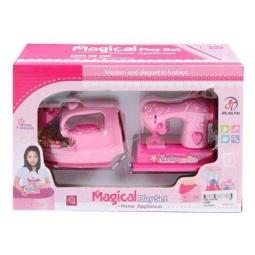 фото Игровой набор для девочки Shantou Gepai «Швейная машина и утюг»