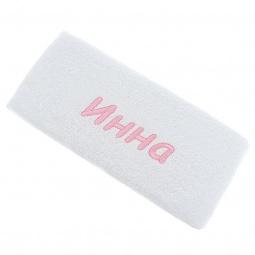 фото Полотенце подарочное с вышивкой TAC Инна. Цвет: белый