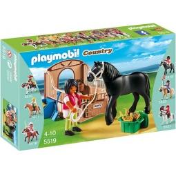 фото Конструктор игровой Playmobil «Конный клуб: Черная лошадка и загон»