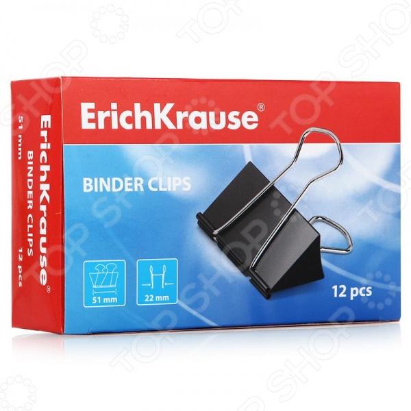 Набор зажимов для бумаг Erich Krause