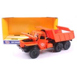 фото Машинка инерционная PlaySmart «Автопарк. Самосвал». Цвет: оранжевый