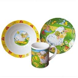 Купить Набор посуды для детей Viconte VC-1201 «Барашек»