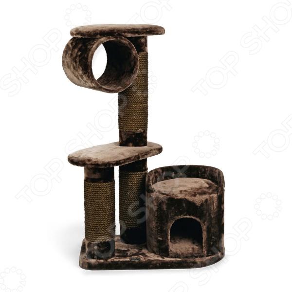 Комплекс для кошек Beeztees 408846 «Могущественный Кот» комплекс для кошек угловой с полками лестницей и канатом beeztees 405770