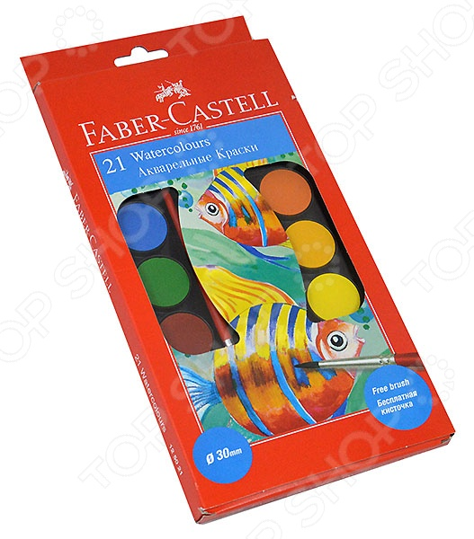 ������ ����������� � 2 ���������� Faber-Castell Watercolours 125021