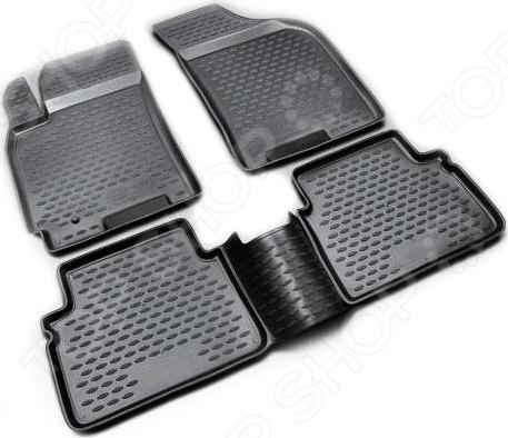 Комплект ковриков в салон автомобиля Novline-Autofamily Honda Fit GD1 JDM 2001-2007Коврики в салон<br>Комплект ковриков в салон автомобиля Novline Autofamily Honda Fit GD1 JDM 2001-2007 прекрасный выбор для владельцев Honda. Они не только обеспечат чистоту салона, но и защитят напольную поверхность автомобиля от царапин и механических повреждений. В набор входят четыре коврика, раскроенных в строгом соответствии с контурами вашего автомобиля. Это исключает необходимость их подрезания или подгиба в случае несоответствия указанным размерам. Изделия выполнены из высокопрочного полимерного материала и снабжены нескользящим покрытием, фиксаторами и защитой от западания педали газа.<br>