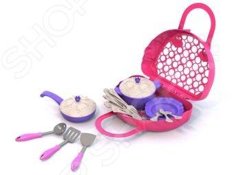 Игровой набор для девочки Нордпласт «Волшебная хозяюшка. Посуда» 06504