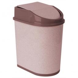 фото Контейнер для мусора с качающейся крышкой IDEA М 2480. Цвет: бежевый. Объем: 5 л