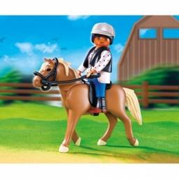 Купить Лошадь Хафлингер со стойлом Playmobil 5109pm
