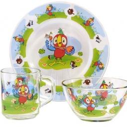 Купить Набор посуды детский Союзмультфильм «Попугай Кеша»