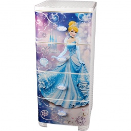 фото Комод 4-х секционный плетеный Альтернатива Disney «Золушка»