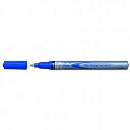 фото Маркер контурный двухцветный Pentel Qutine. Цвет: синий, серебристый