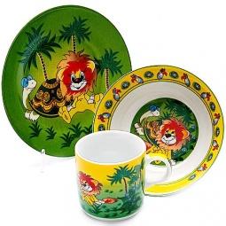 Купить Набор посуды для детей Loraine «Львенок» 23390