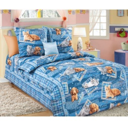 фото Детский комплект постельного белья Бамбино «Четыре лапы»