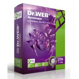 Купить Антивирусное программное обеспечение Dr.Web Антивирус. 2 ПК, 1 год