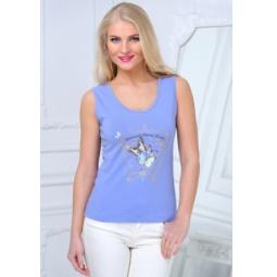 фото Майка женская BeGood SS15-UER-LTP-890. Цвет: лаванда. Размер одежды: 46