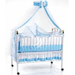 фото Кроватка детская Geoby с подвесной люлькой. Цвет: голубой