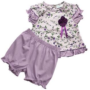 Купить Комплект: кофточка и шорты под памперс WWW Field flowers. Цвет: фиолетовый