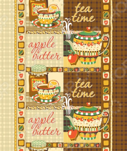 Полотенце вафельное ТексДизайн «Чайная церемония» скатерти skatertishop скатерть чайная церемония 220х150см