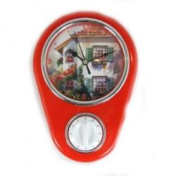 фото Часы настенные с таймером Феникс-Презент «Дом»