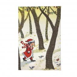 фото Визитница Mitya Veselkov «Дед Мороз в лесу»