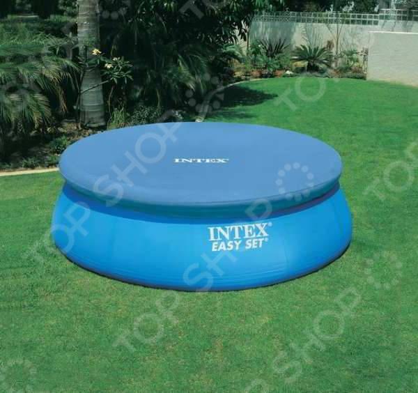 Тент для бассейна Intex с28021 Easy Set intex тент для каркасных бассейнов easy 28031 диаметр 366 см