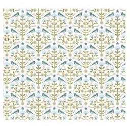 фото Отрез ткани Tilda Фольклорные птички. Цвет: синий