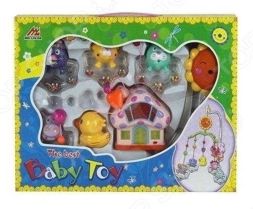 Подвеска музыкальная Shantou Gepai «Теремок»Погремушки. Подвески<br>Подвеска музыкальная Shantou Gepai Теремок яркая и красочная игрушка, которая обязательно привлечет внимание малыша не только своими цветами, но и звуковыми эффектами. Погремушка с оригинальными фигурками предназначена для установления над кроваткой малыша. Забавные игрушки-подвески будут мерно покачиваться и неспешно вращаться под приятную мелодию, громкость которой можно регулировать. В домике можно включить подсветку, которая будет служить своеобразным ночником. Эта простая, но, в то же время, занимательная игрушка позволит развить у малыша внимательность, цветовое и слуховое восприятие, развить мелкую моторику рук и координацию движений. Изделие выполнено из высококачественных материалов, которые совершенно безопасны для детского здоровья. Музыкальная подвеска работает от 2 батареек типа АА в комплект не входят .<br>