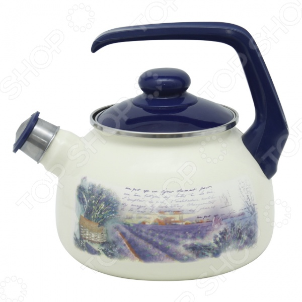 Чайник со свистком Metrot Лаванда чайник metrot айва 2 5л эмал сталь со свистком