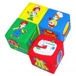фото Кубики обучающие мягкие Мякиши «Профессии» 02367