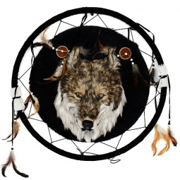 Купить Сувенир из меха «Волк ловец снов»
