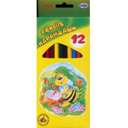 фото Набор карандашей цветных Гамма «Пчелка»: 12 цветов