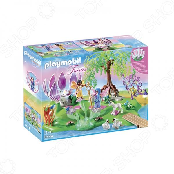 Конструктор игровой Playmobil Остров фей с волшебным жемчужным фонтаном оригинальный, подарочный комплект для игры, состоящий из деталей, с помощью которых можно собрать игрушку. Для этого в комплекте вы найдете: цветок, скрывающий кристалл, 2 феи с крылышками и большое количество аксессуаров. Детский конструктор является достаточно практичным учебным пособием, так как он развивает память, мышление, логику, фантазию, а также моторику рук. Сборка конструктора подарит ребенку массу удовольствия и приятное времяпрепровождение.