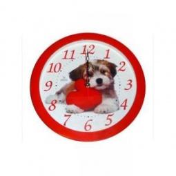 Купить Часы настенные Вега П 1-1/7-217 «Собака и красное сердце»