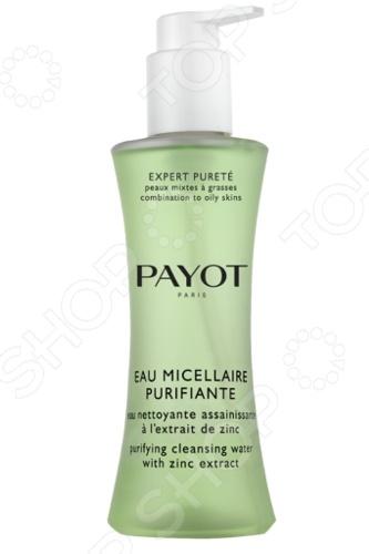 Мицеллярная вода Payot Expert PureteДемакияж. Очищение кожи<br>Мицеллярная вода Payot Expert Purete станет отличным дополнением к набору ваших косметических средств по уходу за жирной и комбинированной кожей лица. Она предназначена для деликатного очищения кожи от загрязнений и эффективного удаления макияжа. Помимо этого, средство способствует нормализации выработки кожного сала. Также мицеллярная вода увлажняет, освежает и успокаивает кожу. Рекомендуется наносить средство с помощью ватного диска легкими массирующими движениями на хорошо очищенную кожу лица, шеи и декольте. Не требует смывания.<br>