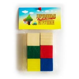 фото Кубики обучающие Русские деревянные игрушки цветные Д154б