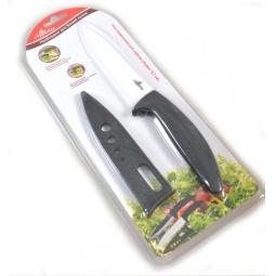 фото Нож керамический с чехлом для лезвия Appetite для нарезки. Цвет лезвия: белый