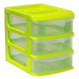фото Бокс для хранения мелочей мини IDEA М 2763. Цвет: салатовый. Количество полок: 3