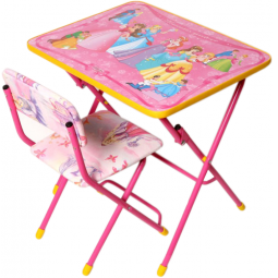 фото Набор мебели детский: стол и стул Ника «Маленькая принцесса»