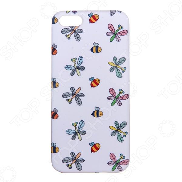 Чехол для iPhone 5 Mitya Veselkov «Стрекозы и пчелки» чехол для iphone 5 mitya veselkov жизнь прекрасна