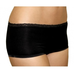 Купить Трусики шорты мини с кружевной отделкой BlackSpade 1411. Цвет: черный