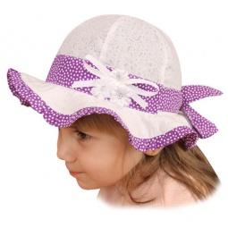 Купить Панама для девочки Shapochka «Мила» ЯВ121034. Цвет: белый, сиреневый