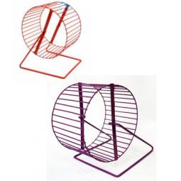 фото Колесо для клетки грызуна ZOOmark металлическое. В ассортименте. Диаметр: 16 см