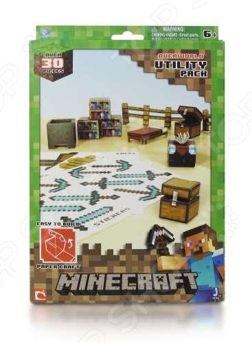 Конструктор бумажный Minecraft «Предметы» minecraft бумажный конструктор снежный биом